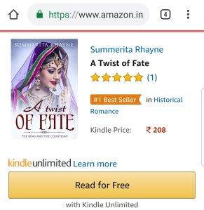 Amazon rankings   Summerita Rhayne